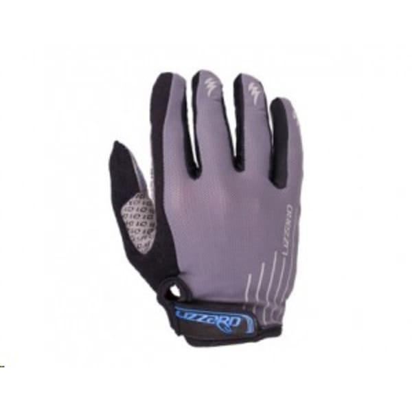 Lizzard Dactyl Grey/Blue Long Finger Gloves