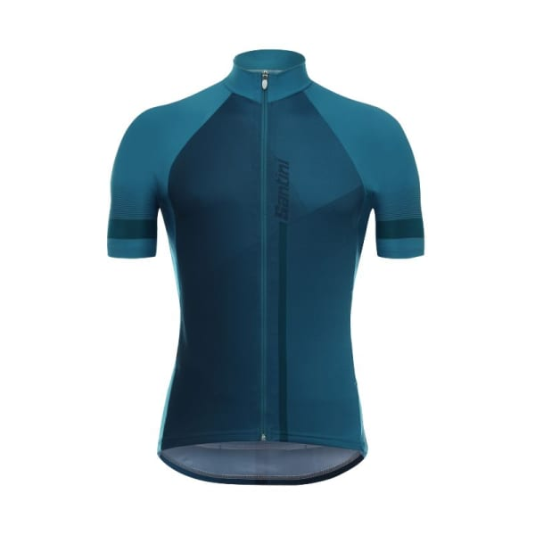 Santini Men's Blue Vento Short Sleeve Jersey