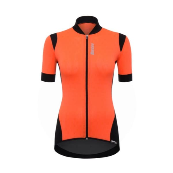 Santini Ladies Orange Wave Short Sleeve Jersey