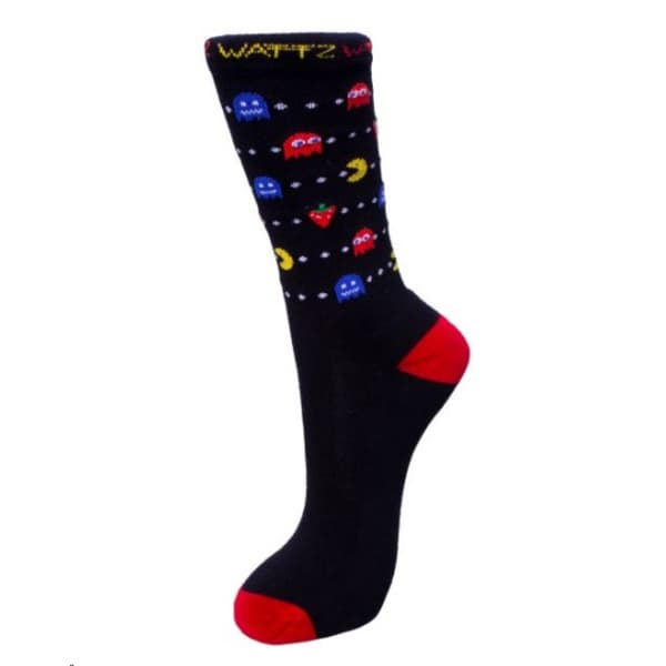 Wattz Unisex Black Game On 7 Inch Socks