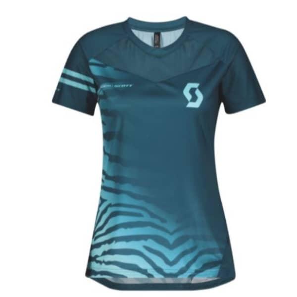 Scott Ladies Luna Blue Stream Blue Vertic Pro Short Sleeve Jersey