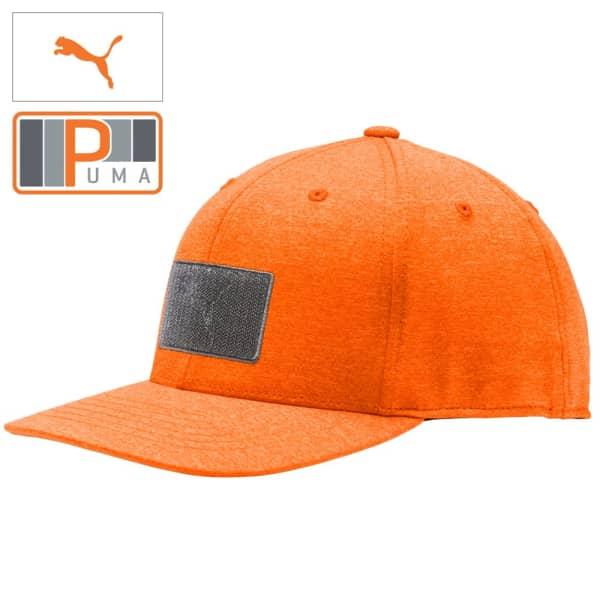 Puma Youth Patch Snapback Junior Vibrant Orange Cap