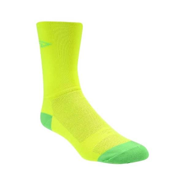 Defeet Unisex Yellow Green Aireator 5 Double Cuff Socks