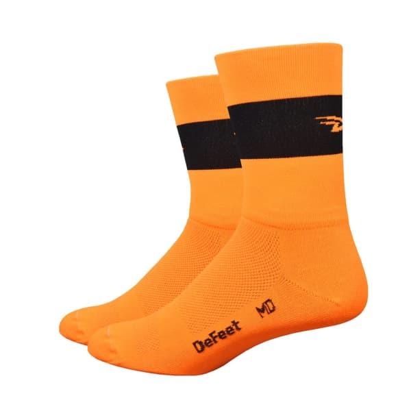 Defeet Unisex HiVis Orange Black Aireator 5 Socks