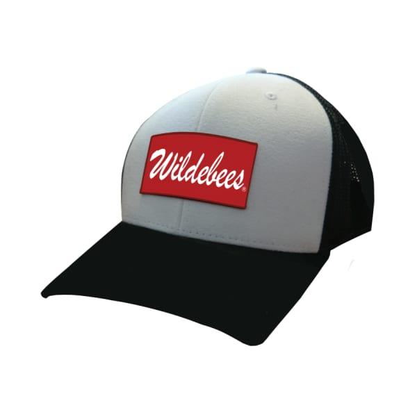 Wildebees Men's Canvas Trucker Cap (Black/White)-OSFA