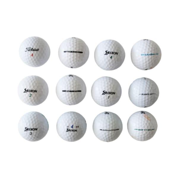 Mixed B-Grade-Mid-Range Golf Balls (12pack)
