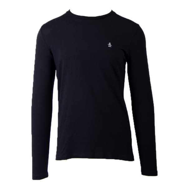 Men's Long Sleeve Embroidered Logo T-Shirt