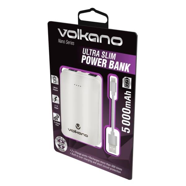 Volkano NANO SERIES 5000mAh Li-Po Powerbank