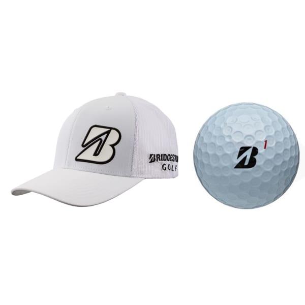 Bridgestone Border B Cap and 3 Golf Balls Gift Set