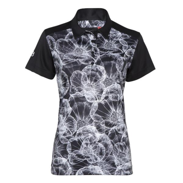 Swagg DryTech Perf Ladies Fleur Black Shirt