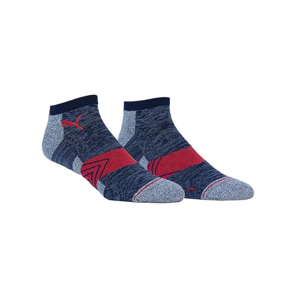 Puma Low Socks Navy/Red