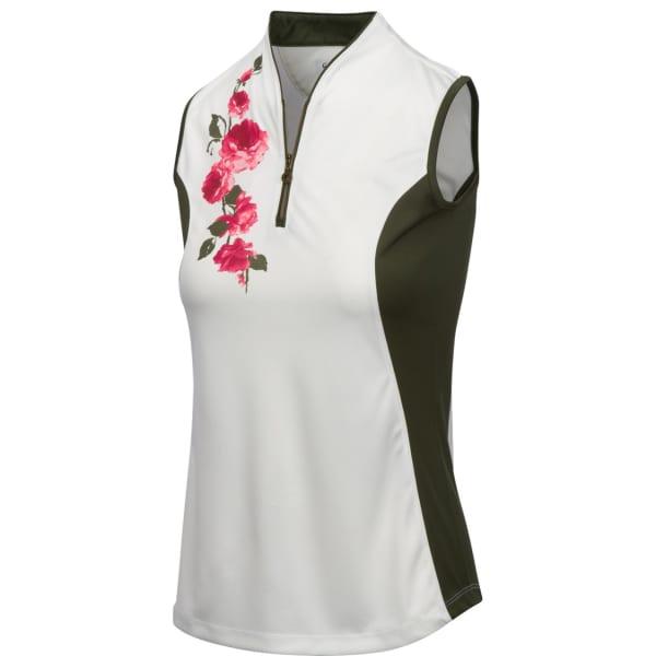 Greg Norman Rosie Sleeveless Ladies Zip Shirt