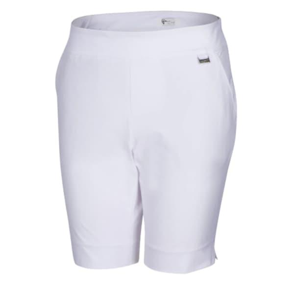 Greg Norman 4 Way Stretch Pull-On Ladies White Bermuda