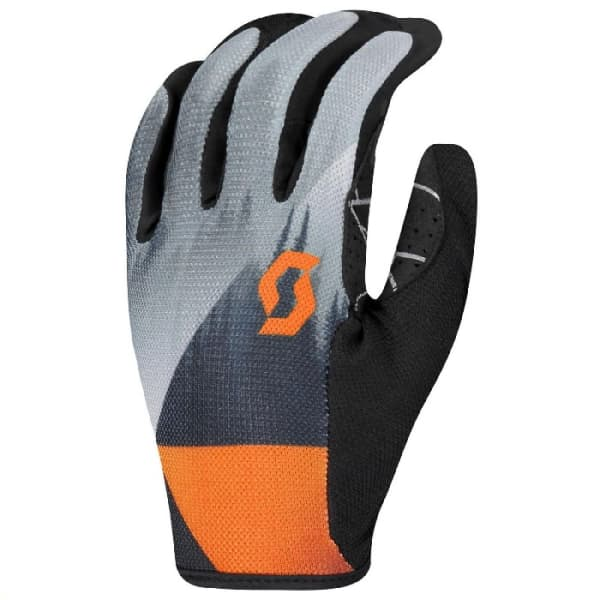 Scott Traction Grey/Orange Long Finger Gloves
