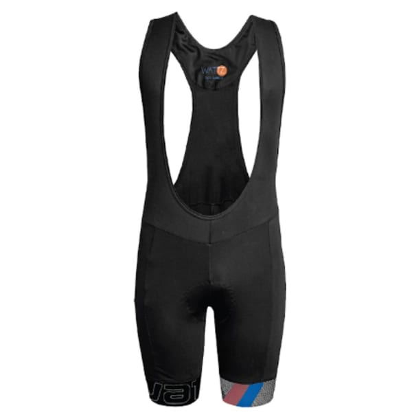Wattz Men's Black/Orange Explode Gel Team Bibshorts