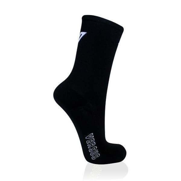Versus Men's Black Basic Thin 6 Inch Cycling Socks