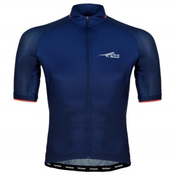 First Ascent Men's Blue Domestique Short Sleeve Jersey