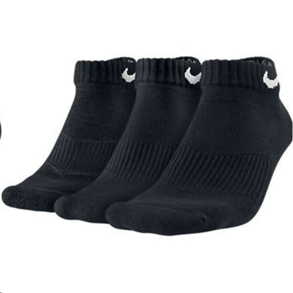 Nike Unisex Cushioned Low 3 Print Black Socks