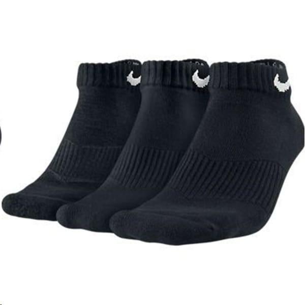 Nike Unisex Cushioned Low 3 Print Black Socks