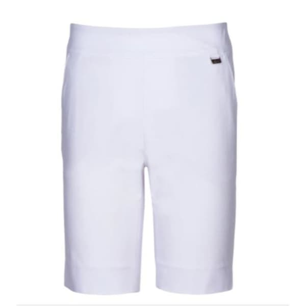 Greg Norman 4 Way Stretch Pull-On Ladies White Shorts