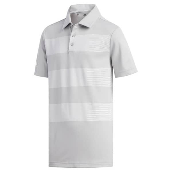 adidas 3 Stripe Junior Boys Grey Shirt