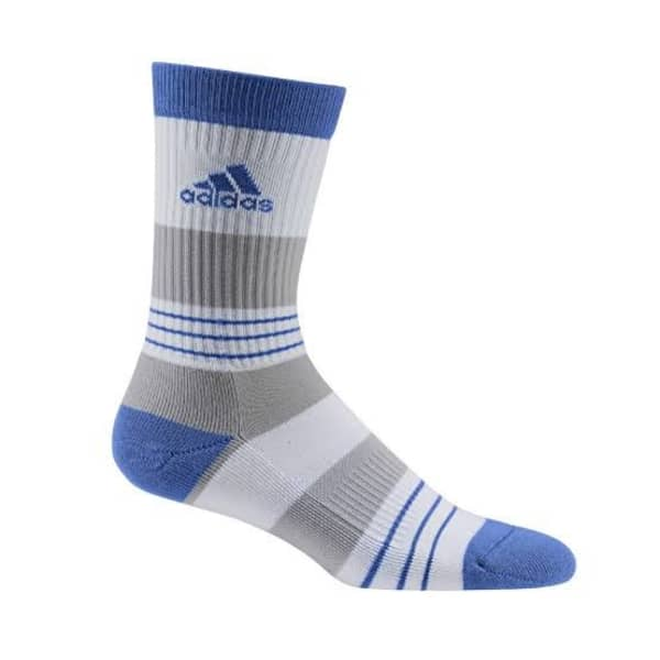 adidas Linear ColourBlocking Crew Men's White/Blue Socks