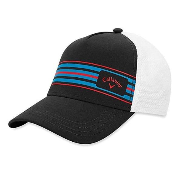 Callaway Stripe Mesh Adjustable Men's Charcoal/White/Red/Black Cap