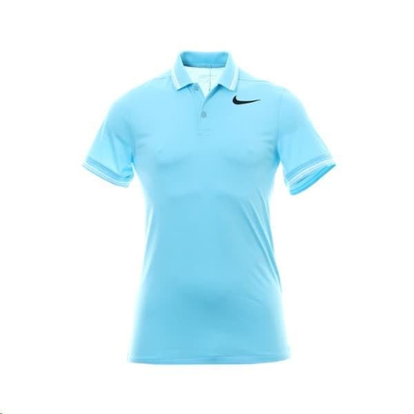 Nike Mens Dry Slim Polo Sky Blue Shirt
