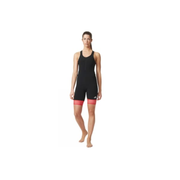 adidas Women's ADISTAR Cycling Bib Shorts (Black/Coral)
