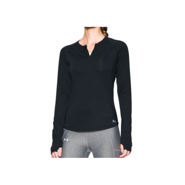 Under Armour® Ladies Fly By 1/2 Zip Long Sleeve (Black)