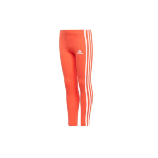 adidas Girls COTTON Training Tights (Orange/White)