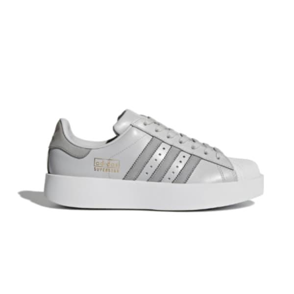 adidas Ladies Superstar Bold Sneakers (Grey/White)