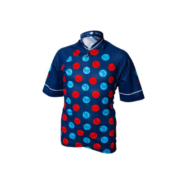 Wattz Butterfly Dots Junior Blue Short Sleeve Jersey