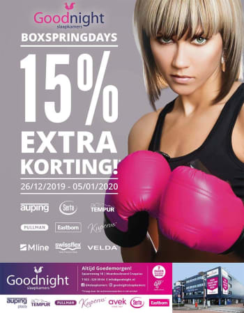 boxspringdays advertentie 2019 goodnight cruquius