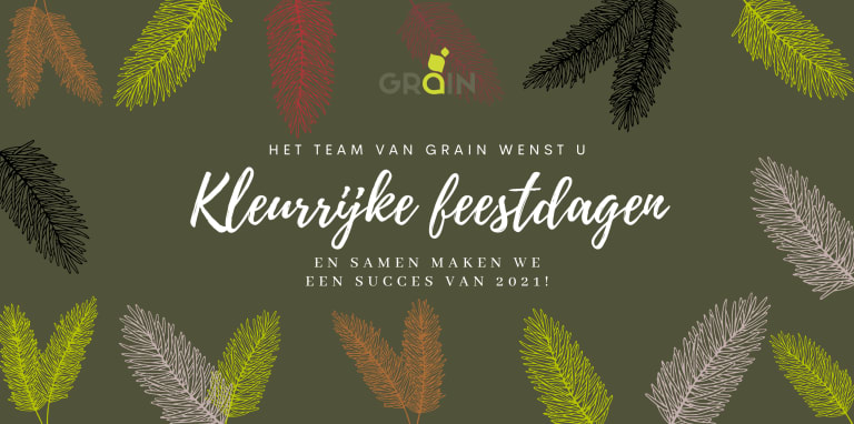 Het team van Grain wenst u kleurrijke feestdagen, en samen maken we een succes van 2021!