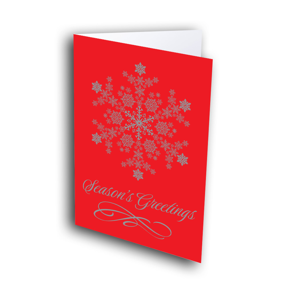 Bright red snowflake greetway greeting cards picture of bright red snowflake m4hsunfo
