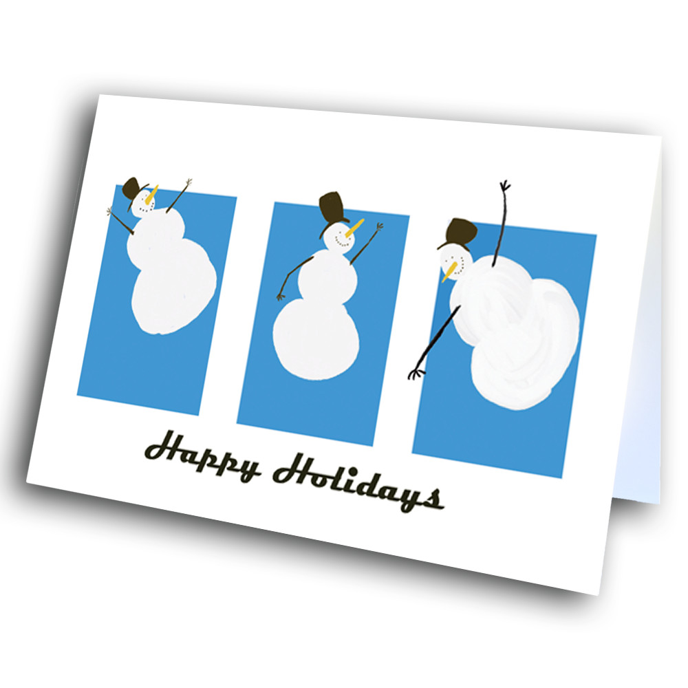 Happy Snowmen Greetway Greeting Cards