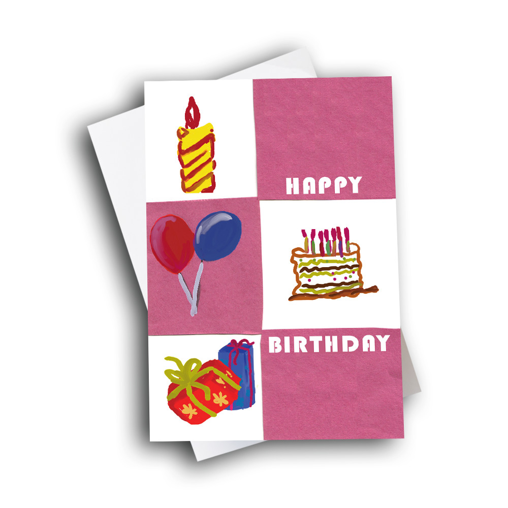 Happy Birthday Gift with Cake and Flowers-Send Greeting ...