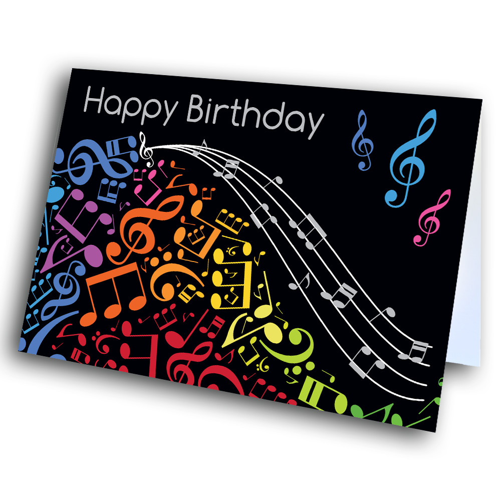 Picture Of Musical Notes Birthday