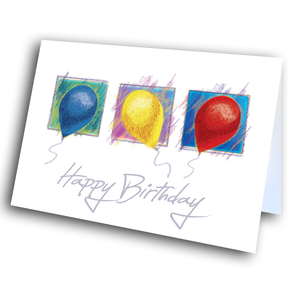 Color Pencil Balloon Birthday Greetway Greeting Cards
