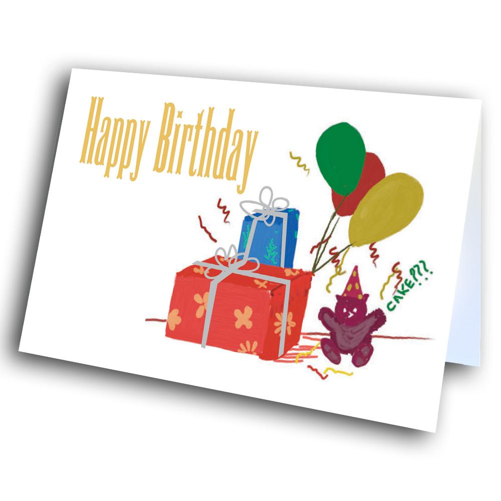 Teddy Bear Birthday Greetway Greeting Cards