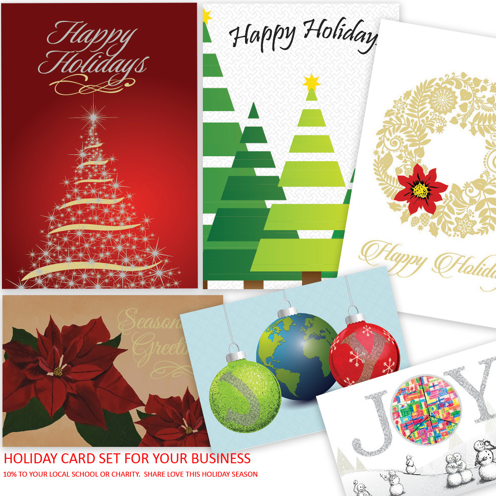 picture of assorted holiday cards 10 to local school or charity - Holiday Cards For Charity