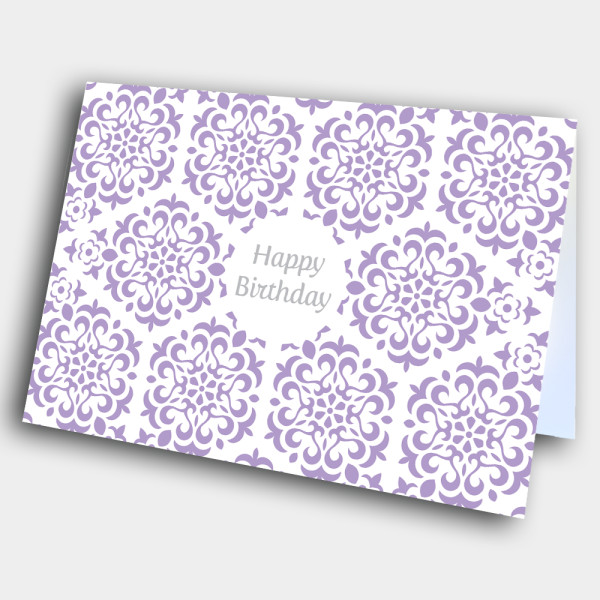 Picture of Purple Flower Pattern Birthday