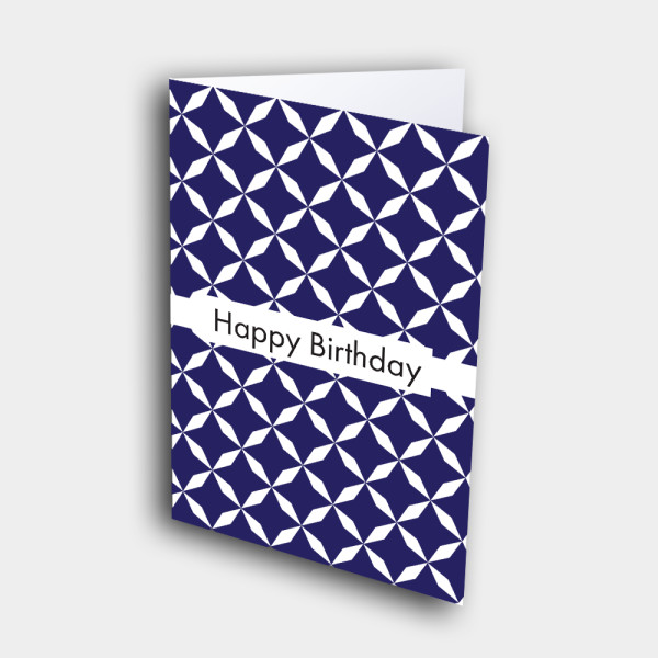 Picture of Purple Star Pattern Birthday