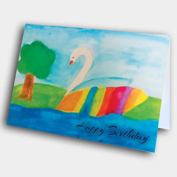 Picture of Rainbow Swan Birthday