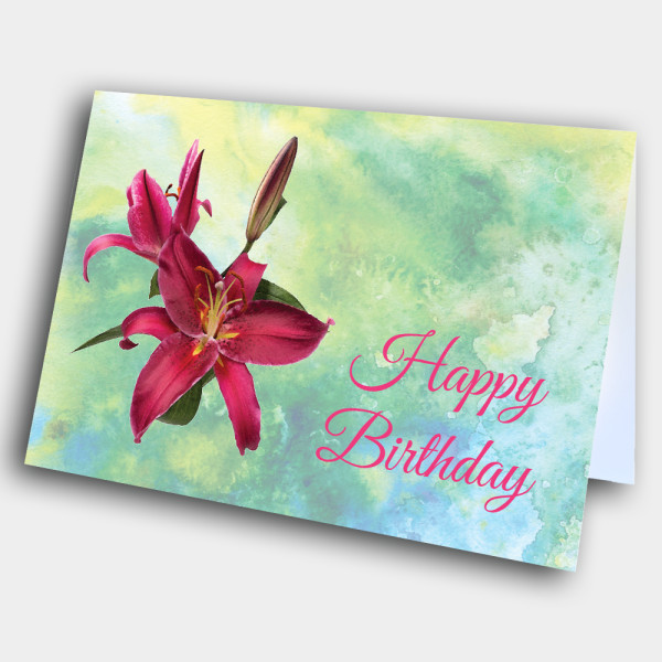 Picture of Magenta Orchid Birthday