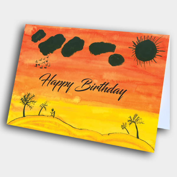 Picture of Sunset Art Birthday