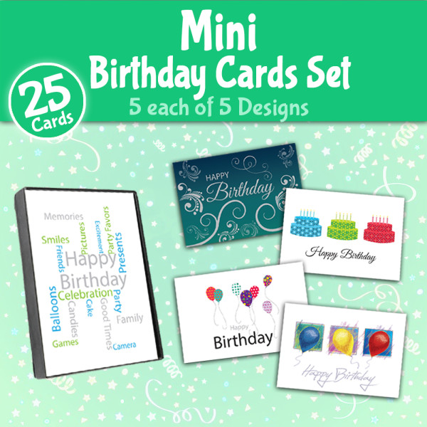 Picture of Mini Birthday Cards Pack