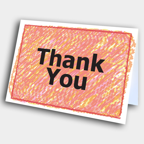 Picture of Thank you card
