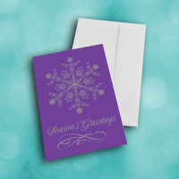 Picture of Bright PURPLE  Snowflake